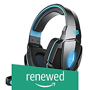 (Renewed) Cosmic Byte Over the Ear Headsets with Mic & LED - G4000 Edition (Blue)