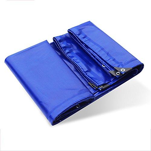 Schwere Plane Plane Wasserdichter Sonnenschutz Anti-Pull-Außenverkleidung Geschmackloses Polyethylen PE Blau, 650G / m2, Dicke 0,6 mm (größe : 4m x 5m) ()