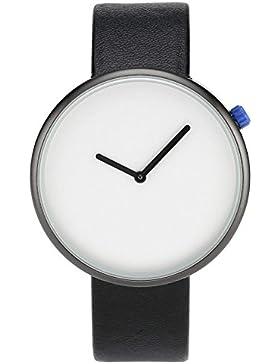 JSDDE Uhren,Minimalismus Armbanduhr Japanische-Quarzwerk Quarzuhr Zeitlose Design PU Lederarmband Casual Uhren...