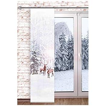 245 x 60 cm Home Fashion Vogelbeeren Schiebevorhang Verrotten