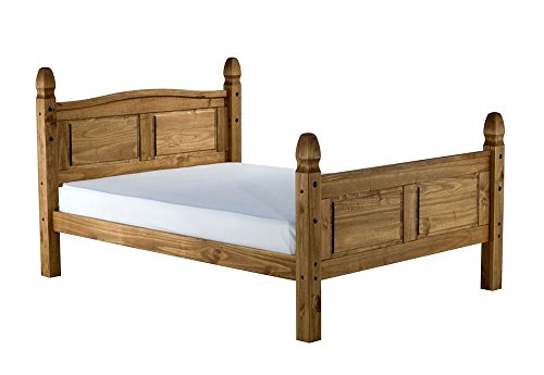 Birlea Corona High End Pine Mid Wooden King Size Bed