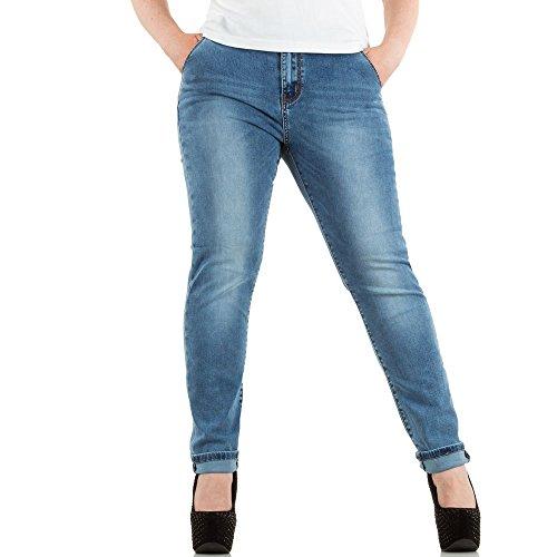 Damen Jeans Used Look übergrößen Skinny Blau Modell 2 Blau