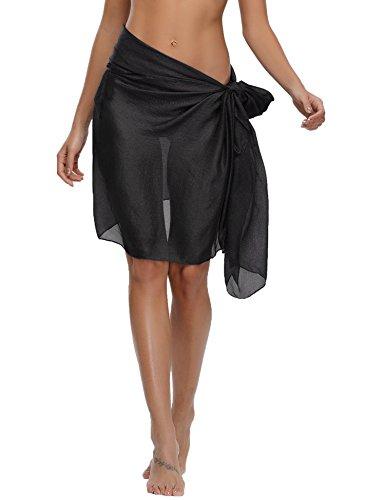 Abollria Strandtuch Damen Sarong Tuch Chiffon Pareo Liecht Bikini Cover Up Wickelrock Multifunktions Tücher für Urlaub