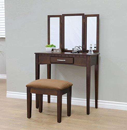 Frenchi Home eingerichtet 3Stück Vanity, Espresso Finish, Expresso, Holz, Espresso, Three Mirror - Vanity Finish
