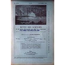 NATURE (LA) [No 857] du 02/11/1889 - J.P. JOULE - EXPOSITION UNIVERSELLE DE 1889 - FORCE MOTRICE - GAHERY - LA STATUE DE J.B. DUMAS - TISSANDIER - LA FORCE DES VAGUES - LA CONQUETE DU POLE NORD - LEOTARD VERRE TREMPE - VERRE IRISE - HENRIVAUX - LA LONGUE PAUME ET LE CONGRES DES EXERCICES PHYSIQUES - BELLET - LES MOTEURS THERMIQUES - MACHINE A CIGARETTES - LE VOYAGE EN BALLON DE GAMBETTA ET LE MONUMENT D'EPINEUSE - TISSANDIER - RENE DE SAUSSURE - PHILIPPE RICORD - S.