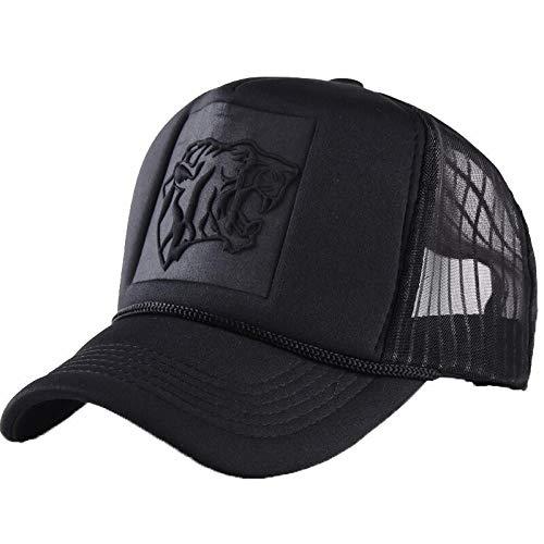 qqyz2323 Summer Mesh Black Leopard Print Curved Baseball Caps for Women Men Snapback Hats Casquette Trucker Net Cap Sun Hip Hop Hat