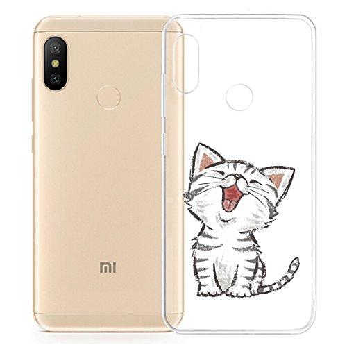 "HYMY Funda para Xiaomi Mi A2 Lite (5.84"") - Transparente Clear TPU Silicona Suave Gel Caja Tapa Caso Parachoques Carcasa -WM104"