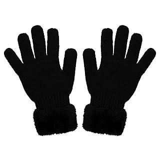 Alsino Handschuhe Winter Damen Voll Finger Damenhandschuhe Winterhandschuhe Strick One Size, Variante wählen:H-61-00245-99 schwarz