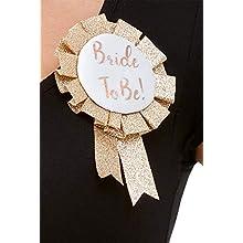 Smiffys 61014 Bride to Be Rosette, Women, Rose Gold