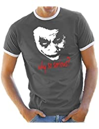 Joker - Why so serious? Ringer / Contrast T-Shirt S-XXL diff Color