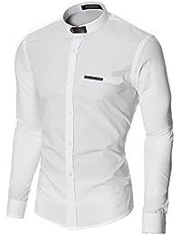 MODERNO - Cuello Mao Camisa para Hombre (MOD1427LS)