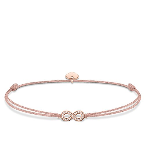 Thomas Sabo Damen-Armband Little Secret Infinity 925 Sterling Silber LS032-898-19-L20v - Freundschaft Armband Infinity