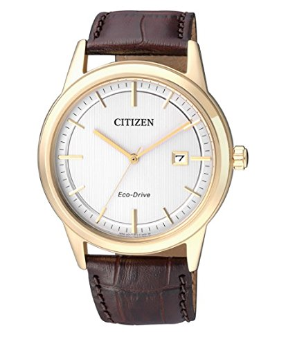 Citizen Men's Quartz Watch with Black Dial Analogue Display Quartz Leather AW1233 3.6 V 700 mAh