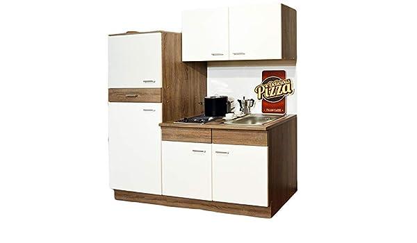 Credenza Con Frigo : Cucina singola angolo cottura frigorifero lavello piastre di