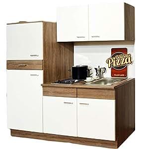 Cucina singola angolo cottura frigorifero lavello - Blocco cucina 160 cm ...