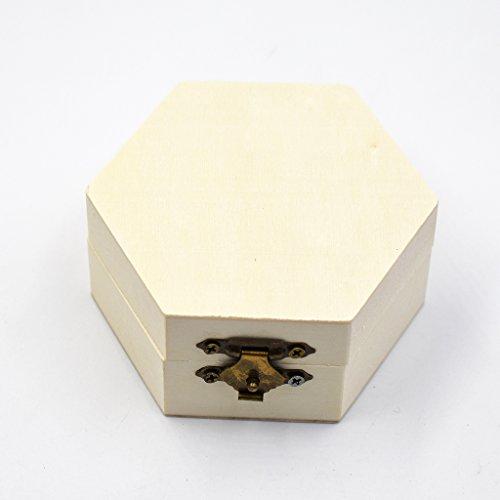 Nopea Holz Box Sechseckige Schatulle Holz Schachtel Einfache Sechseckige Box Holz Sechseckige Box Für Schmuck oder kleine Objekte Holz-schmuck-boxen