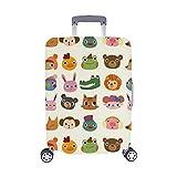 Cartoon Tier Gesicht Spandex Trolley Reisegepäck Beschützer Koffer Abdeckung 28,5 X 20,5 Zoll