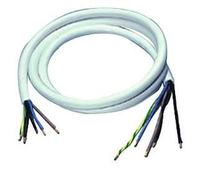 Herdanschlussleitung H05 VV-F 5G, 1,5m, weiß von ETT bei Lampenhans.de