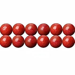 Schmuckherstellung Perlen 10mm Rot Bambuskorallen Edelsteinperlen für Armbänder Auffädeln 38cm Strang Approx 36 Stück