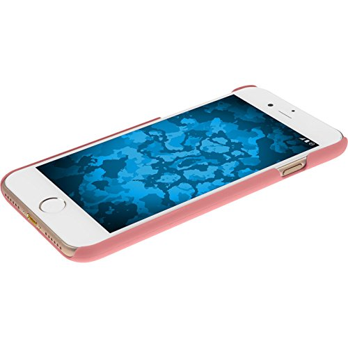 PhoneNatic Case für Apple iPhone 7 Plus Hülle rot gummiert Hard-case für iPhone 7 Plus + 2 Schutzfolien Rosa