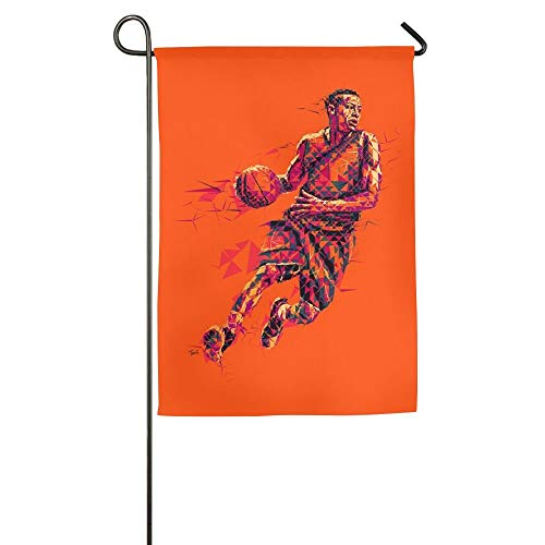 WEERQ Cool Basketball Floral Garden Yard Banner for Outside House Flower- Best for Party Yard and Home Outdoor Decor