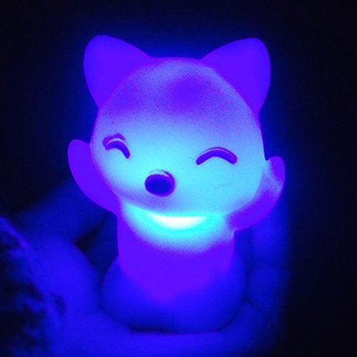SSforiesun Lampe de Nuit /à LED 7 Couleurs Transformable Lumi/ère D/écorative en Forme de Renard Cadeau pour Enfants