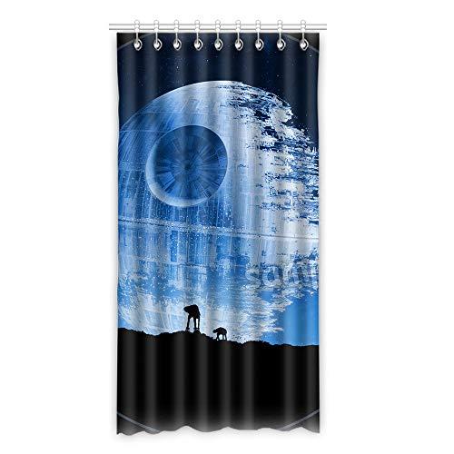 KUAYI Fenstervorhänge, Polyestergewebe, Galaxie-Platte für Schlafzimmer, Wohnzimmer, 127 x 246 cm, 1 Stück e