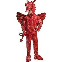 Los niños de Merlin Fairytale Disfraz Libro Semana Disfraz Disfraz de dragón rojo