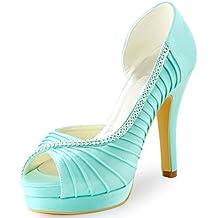 Scarpe Da Sposa Color Tiffany.Scarpe Donna Open Toe Amazon It