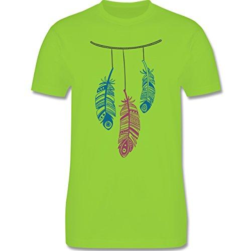Statement Shirts - Hängende Federn - Herren Premium T-Shirt Hellgrün