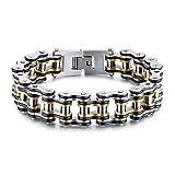 ZHHAOXINJE Classique Bracelet Acier Titane Exquis Bijoux pour des Hommes Magnétique...