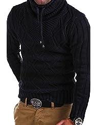 MT Styles - W-01 - Pull-over en tricot avec col châle