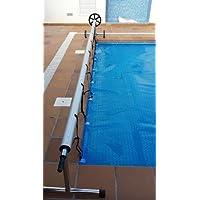 avvolgitore coperta termica per piscina max 8,7 metri (acciaio inox e alluminio)