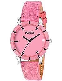 Lorenz Pink Dial Analog Watch For Women/Watch For Girls- AS-27A