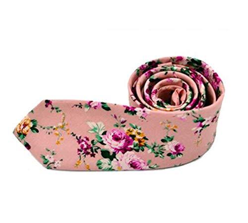 Xmiral Krawatte Herren Mode Blumen Drucken Baumwollmischung Schmale Business Casual ()