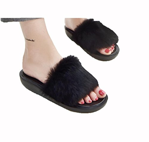 Coelho De Terreno Salto Dos Flat Mulheres Com Cor Palavra Doces Pesado Pele Preta De Wzg De Mulheres Chinelos sapatos 1xwqYCIXB