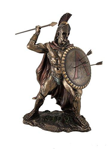 Zeckos King Leonidas Griechischer Krieger von Sparta Bronze Finish Statue -