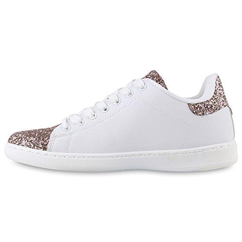 buy popular 63b42 36e91 Sportliche Damen Sneakers Sneaker Low Metallic Lack ...