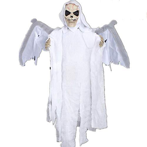 Nano WIA Halloween Deko Gespenst,Sensenmann Geist Gruselig Hängend Türvorhang Für Halloween Tür Deko,White (White Reaper Kostüm)