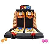 SLONG Doppel-Finger-Ejection Basketball-Spielkonsole Interaktives Desktop-Spiel-Spielzeug Mini-Shooting-Maschine