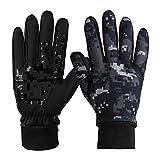 ODLICNO Touchscreen-Handschuhe, Touch Gloves Smartphone Handschuhe für Radfahren, Motorradfahren, Wandern und andere Outdoor-Aktivitäten (Getarnt, L)