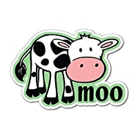 Cow moo cute friends not food vegan vegetarian farm Car Sticker Decal