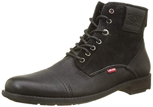Levi's Herren Fowler Biker Boots, Schwarz (Noir Regular Black 59), 42 EU