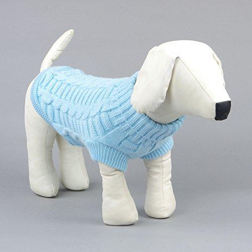 Kismaple Lindo perrito mascota Gato perro Calentar Jersey de punto Abrigo de...
