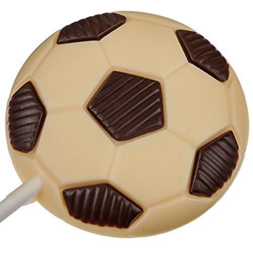 Weibler - Sucette en chocolat blanc - en forme de ballon de foot - 25 g
