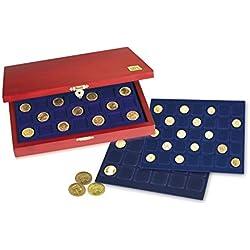 SAFE HOLZ MÜNZKASSETTEN 60 X 10 EUROMÜNZEN IN MÜNZKAPSELN NR. 5883 - 6337 in 3 Tableaus 6337 für je 20 x 10 Euro Münzen Gedenkmünzen in 325 PP ohne Rand - STAPELBAR - TRESORTAUGLICH - MAHAGONIFARBENDE HOLZMÜNZKASSETTEN