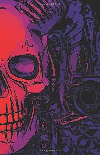 Journal: Skull Notebook Pink Purple Blue Perfect Bound Beautiful Skull Design carnet de notes crâne (Skull Sugar Halloween Blue)
