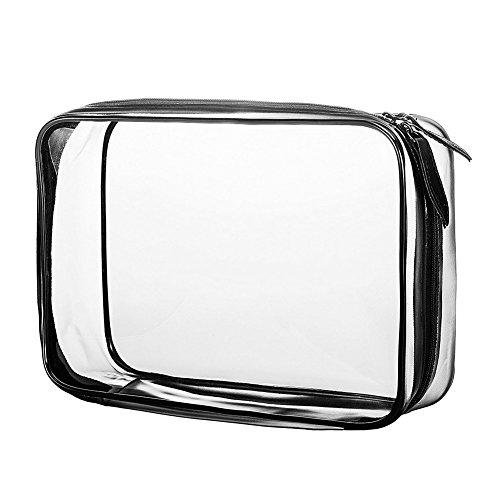 LAAT Sac cosmétique imperméable à l'eau Laver Le Sac à cosmétiques Toilette Transparente Kit de Voyage Trousses à Maquillage Case PVC
