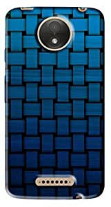 FCS Printed Soft Silicone Back Cover for Motorola Moto C Plus Pattern -193