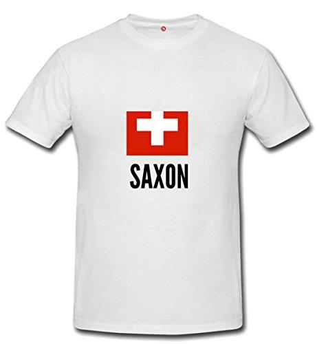 T-shirt Saxon city White
